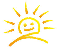 Smiling sun Royalty Free Stock Photo