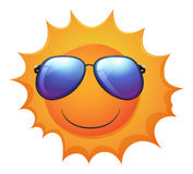 A smiling sun Stock Photos