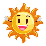 Smiling Sun Mascot Stock Images