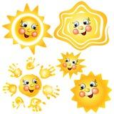 Smiling sun set cartoon vector illustrationΠRoyalty Free Stock Photography