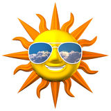 Smiling Sun With Sunglasses Royalty Free Stock Photography