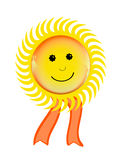 Smiling sun symbol Royalty Free Stock Image