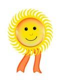 Smiling sun symbol Royalty Free Stock Image