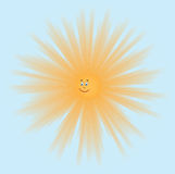 Smiling sun - vector Royalty Free Stock Photo