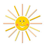 Smiling sun vector illustration Royalty Free Stock Photos