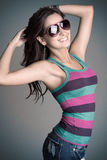 Smiling Sunglasses Woman Royalty Free Stock Images