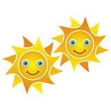 Smiling suns Stock Image
