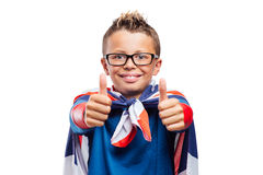 Smiling superhero thumbs up Royalty Free Stock Images