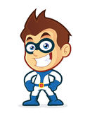 Smiling superhero. Vector clipart picture of a smiling superhero cartoon character Royalty Free Stock Images