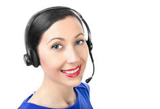 Smiling support operator Royalty Free Stock Photography