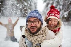 Smiling sweethearts Stock Image