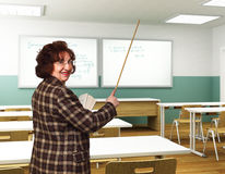 Smiling teacher Stock Image