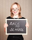 Smiling teacher royalty free stock photography