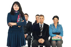Smiling teacher businesswoman Stock Image