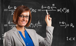 Smiling teacher portrait Stock Photos