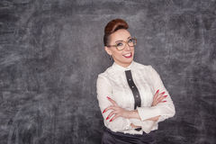 Smiling teacher Stock Images