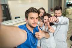 Smiling Team Of Doctors And Nurses At Hospital Taking Selfie Royalty Free Stock Photos