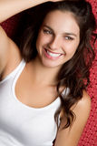 Smiling Teen. Smiling young brunette teen girl Royalty Free Stock Photo