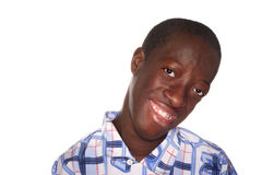 Smiling Teen Boy Stock Photo
