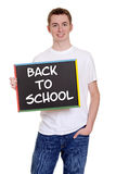 Smiling teen boy back to school Stock Images