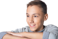 Smiling teen boy Royalty Free Stock Image