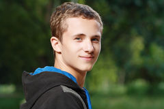 Smiling Teen Boy Stock Photo