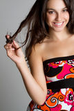 Smiling Teen Girl. Pretty smiling happy teen girl stock photos