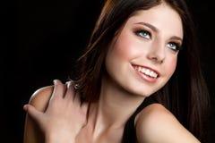 Smiling Teen Girl. Pretty smiling happy teen girl stock photography
