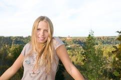 Smiling teen girl royalty free stock photos