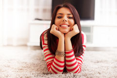 Smiling teen girl Stock Photos