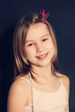Smiling teen girl. Fashion portrait stock photography