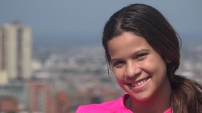 Smiling Teen Girl Or Happy Person stock video footage
