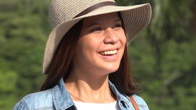 Smiling Teen Girl Laughs stock video footage