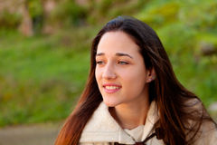Smiling teen girl outside Stock Images