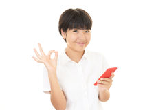 A smiling teen girl stock photography
