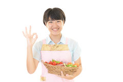 A smiling teen girl Stock Image