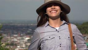 Smiling Teen Girl Summer Day stock video