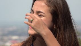 Smiling Teen Hispanic Girl stock video footage