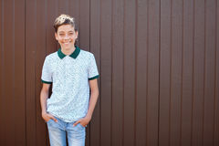 Smiling teen outdoors at summer Royalty Free Stock Photo