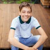 Smiling teen outdoors at summer Royalty Free Stock Photos