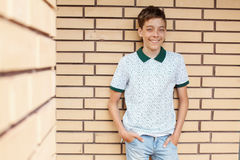 Smiling teen outdoors at summer Stock Photography