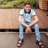 Smiling teen outdoors at summer Stock Image