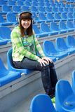 Smiling teen at the stadium Royalty Free Stock Photography