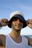 Smiling Teen With A Hat Stock Images