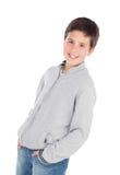 Smiling teenage boy of thirteen Royalty Free Stock Images