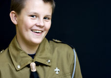Smiling teenage boyscout Royalty Free Stock Photography