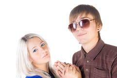 Smiling teenage couple. Royalty Free Stock Images