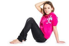 Smiling teenage girl Stock Image