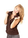 Smiling teenage girl Royalty Free Stock Photos
