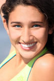 Smiling teenage girl stock images